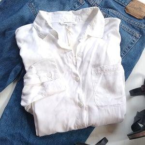 BeachLunchLounge • white button down shirt